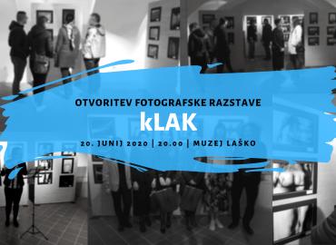 Otvoritev razstave kLAK 2020